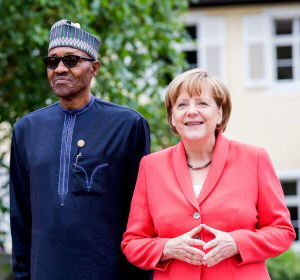 President Buhari and Chancellor Merkel frontpage